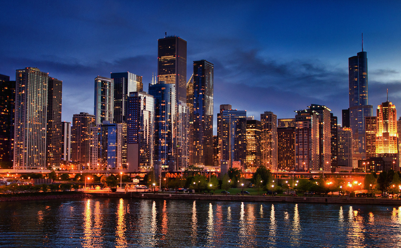 Chicago Skyline HDR