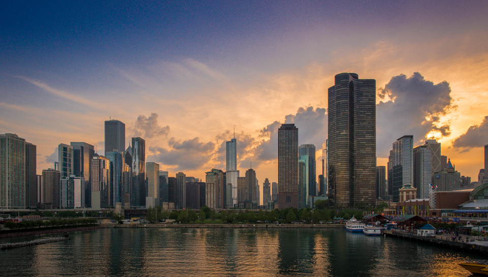 Chicago Skyline at Navy Pier