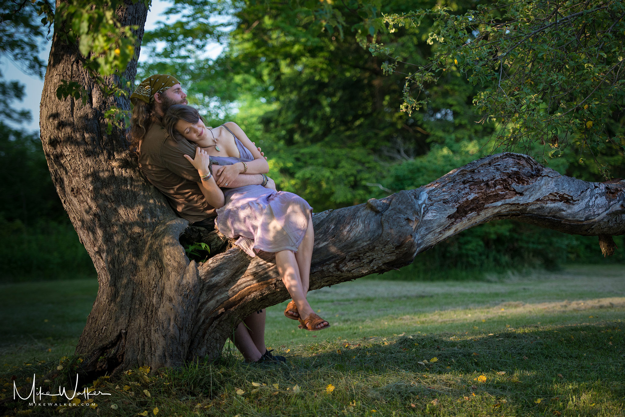Jenny and Bill sitting in a tree. Engagement Session © Mike Walker