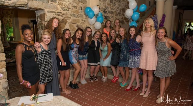 Group of young ladies at a sweet 16. Photo by Mike Walker.
