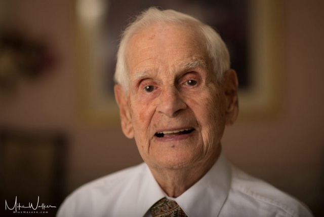 Formal Portrait of 93 year old man. Portraits photography by Mike Walker.
