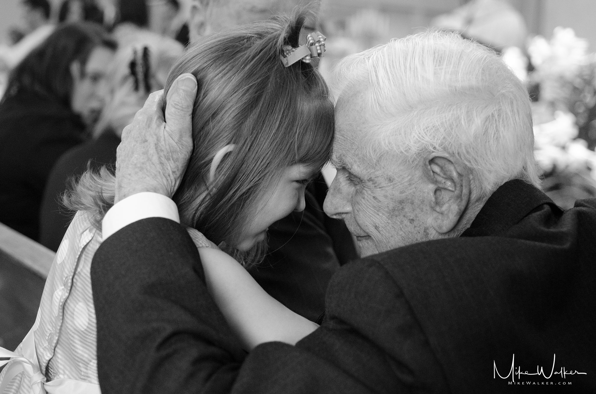 Grandpa and Amanda. Wedding Photography © Mike Walker