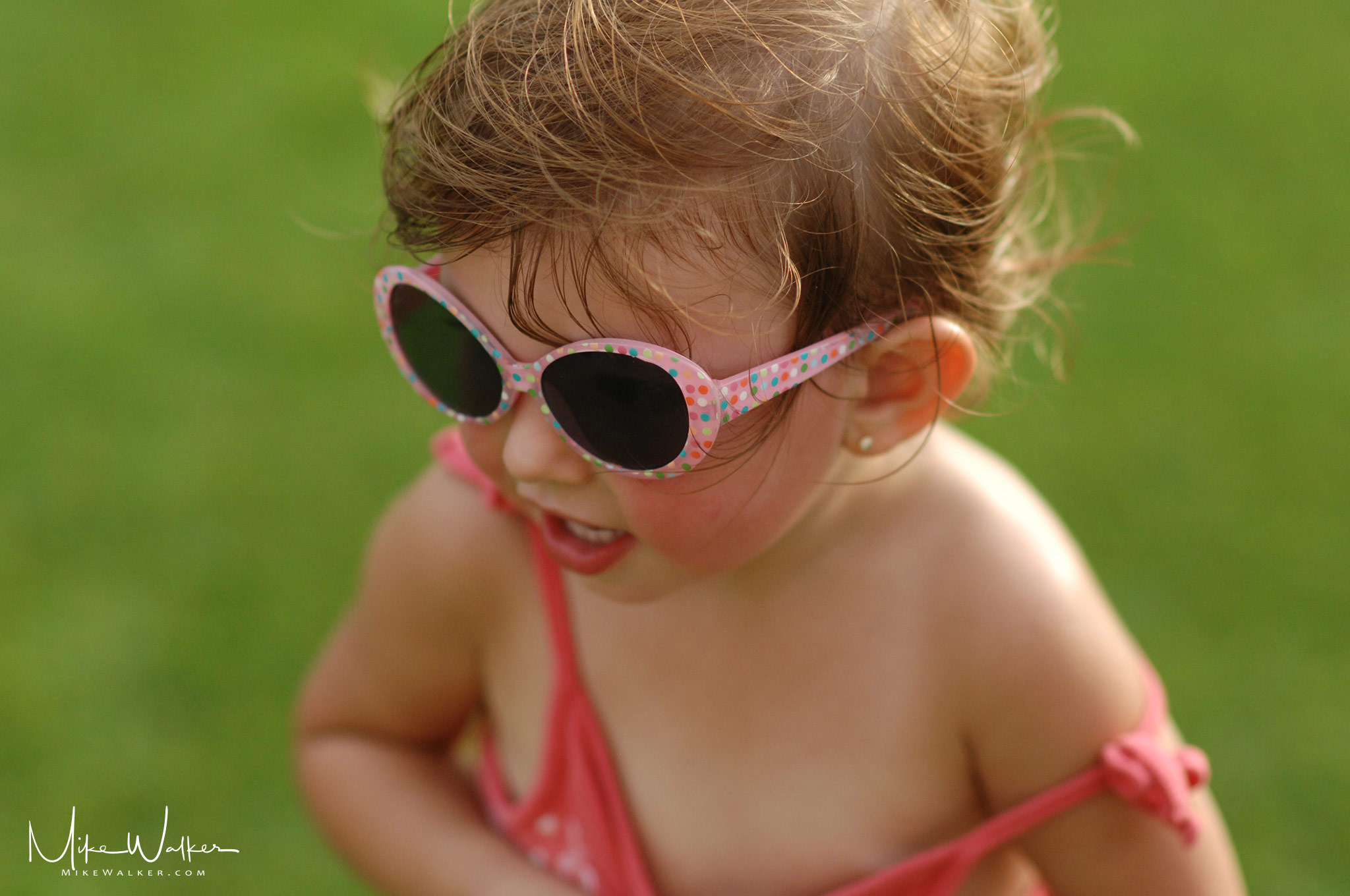 Baby in sunglasses. Family Photography © Mike Walker