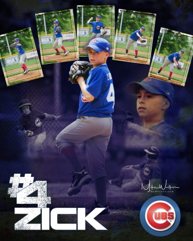 Child baseball poster. Sports photography © Mike Walker