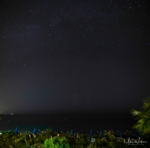 Stars from a hotel balcony. Travel photography © Mike Walker