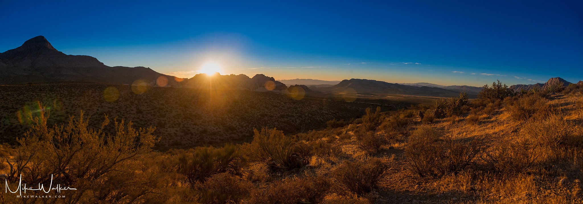 Sunrise in Red Rock Canyon. Travel Photography © Mike Walker