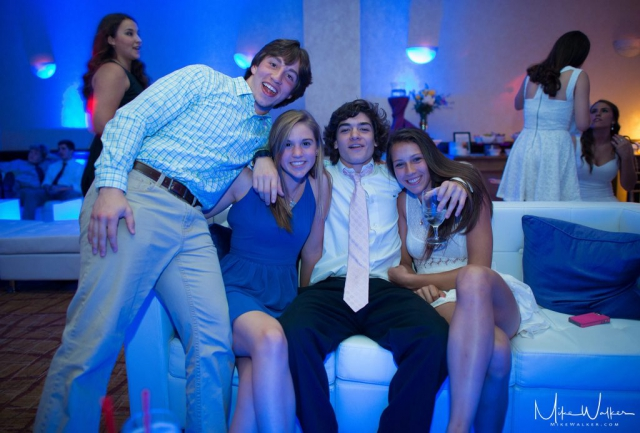 Kids partying at a sweet 16. Event photography by Mike Walker.