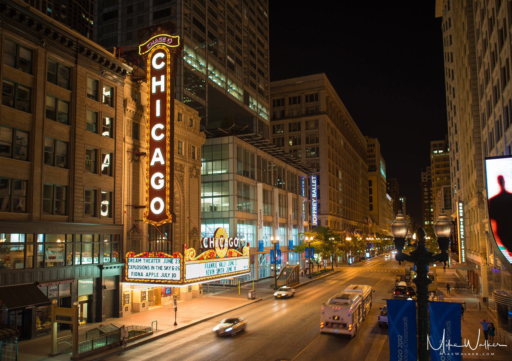 World famous Chicago theater. Travel photography by Mike Walker.