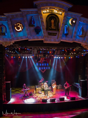 Band performs on stage at the House of Blues in Chicago. Event photography by Mike Walker.