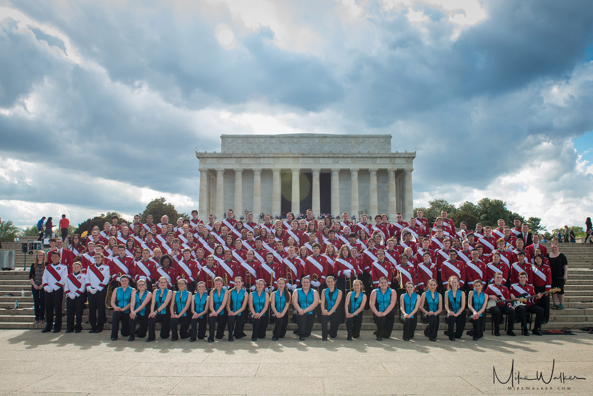 Whippany Park High School's marching band in Washington, D.C. photographed by Mike Walker